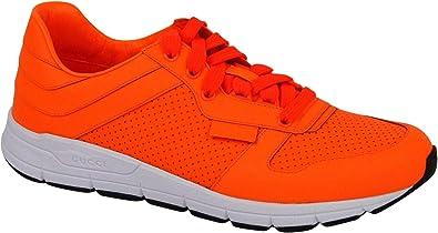 Gucci Men's Running Neon Orange Leather