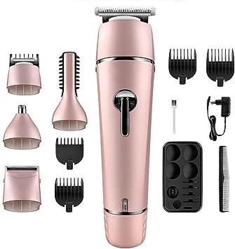 LL-Cortapelos eléctrico, barba lavable recargable, afeitadora ...