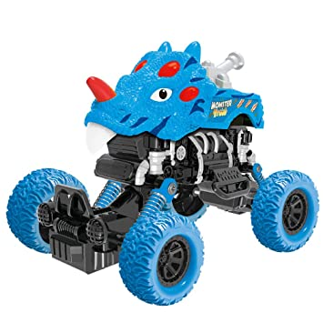 Amazon.com: Dinosaur Monster Truck Toys,Friction Powered ...