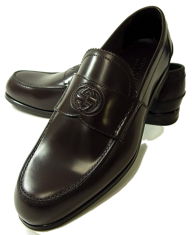 (グッチ) GUCCI靴 メンズ  ダブルGシンボル レザーシューズ(ココア) 282865 ALR00 2140 G-5493 [並行輸入品] B06XRWSJ3W27.0 cm