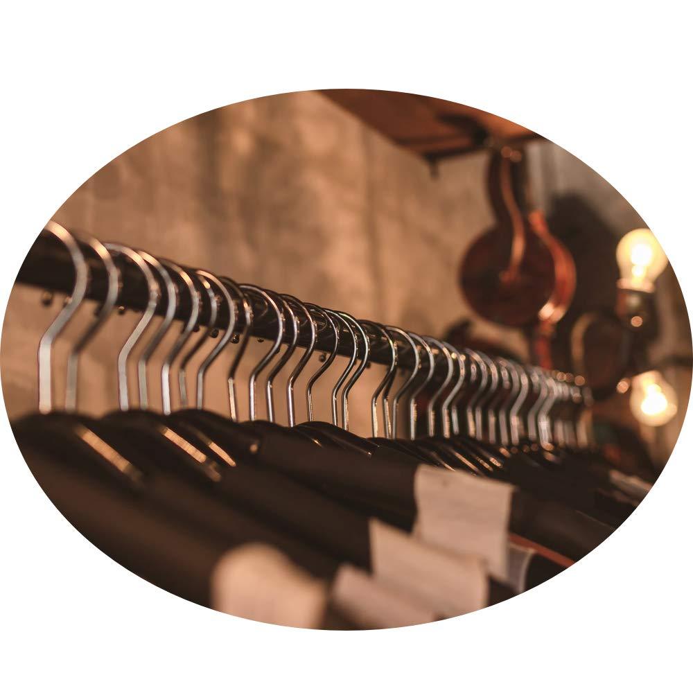 ideal para colgar cortada a medida con soportes de extremo y tornillos Barra de cromo pulido ovalada para armario