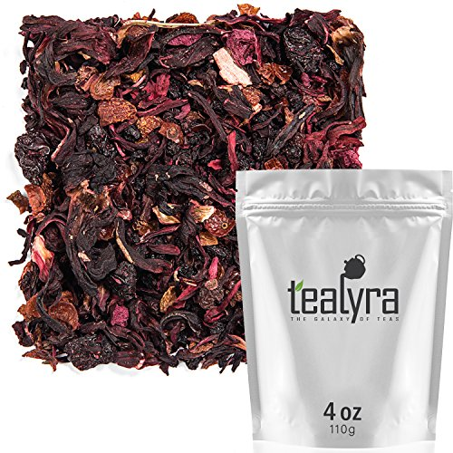 Herbal Fruit - Tealyra - Cherry Goddess - Fruity Herbal Loose Leaf Tea - Caffeine-Free - Vitamin Rich - Hot and Iced - All Natural - 110g (4-ounce)