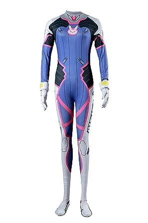 8a743cfbbf144 De-Cos Cosplay Costume Mech Pilot D.Va Hana Song Outfit Set V1:  Amazon.co.uk: Clothing