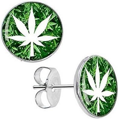 boucle d'oreille cannabis