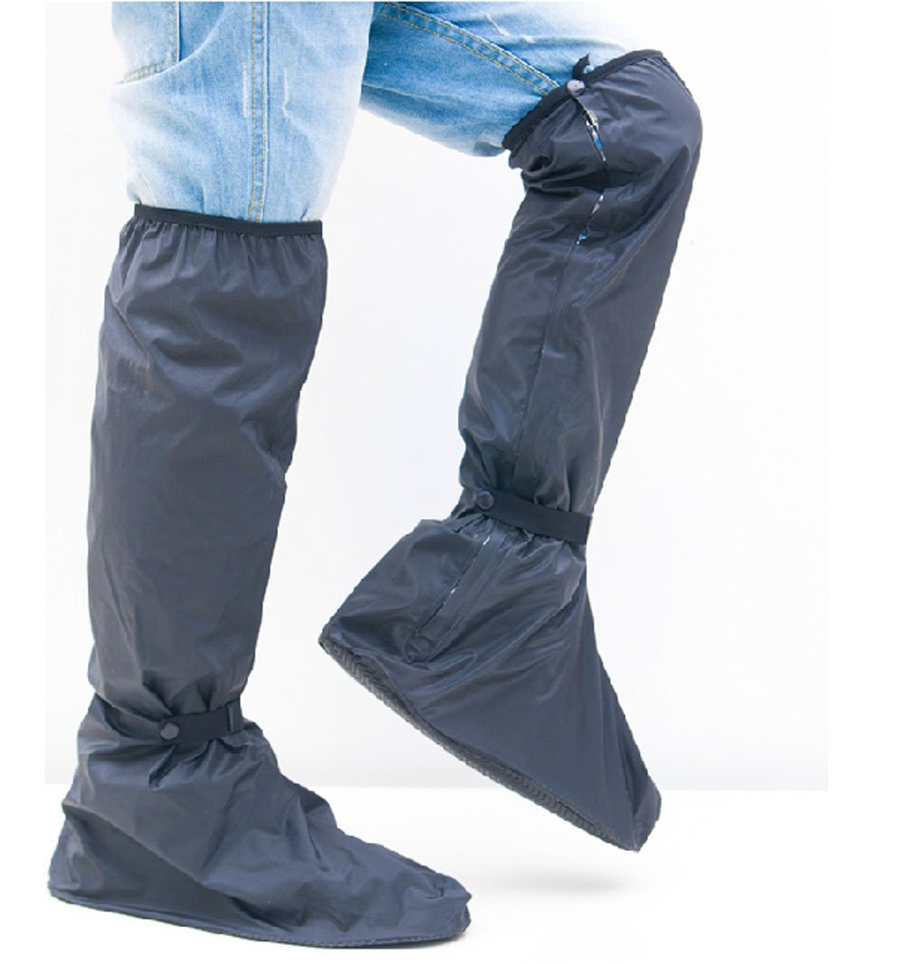 Men Ultralong Overknee Rain Shoes Motorcycle Riding Rain Boots Shoes Cover KM Outdoor&Sports