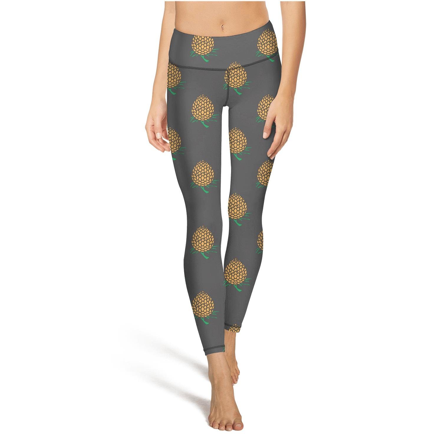 338e368633 Amazon.com: juiertj rt Long Hiking Tropical Fruit Pineapple Watermelon  Flowers Leggings Sweat-Wicking High Waist Tights Active Yoga Pants: Clothing