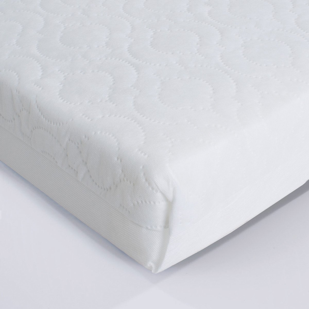 Superior Quilted Cot Mattress 140 x 70 x 10cm Thick - British Made With High Grade Density Foam TOPSTYLE