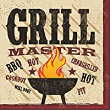 Creative Converting 18 Count Lunch Napkins, BBQ Master