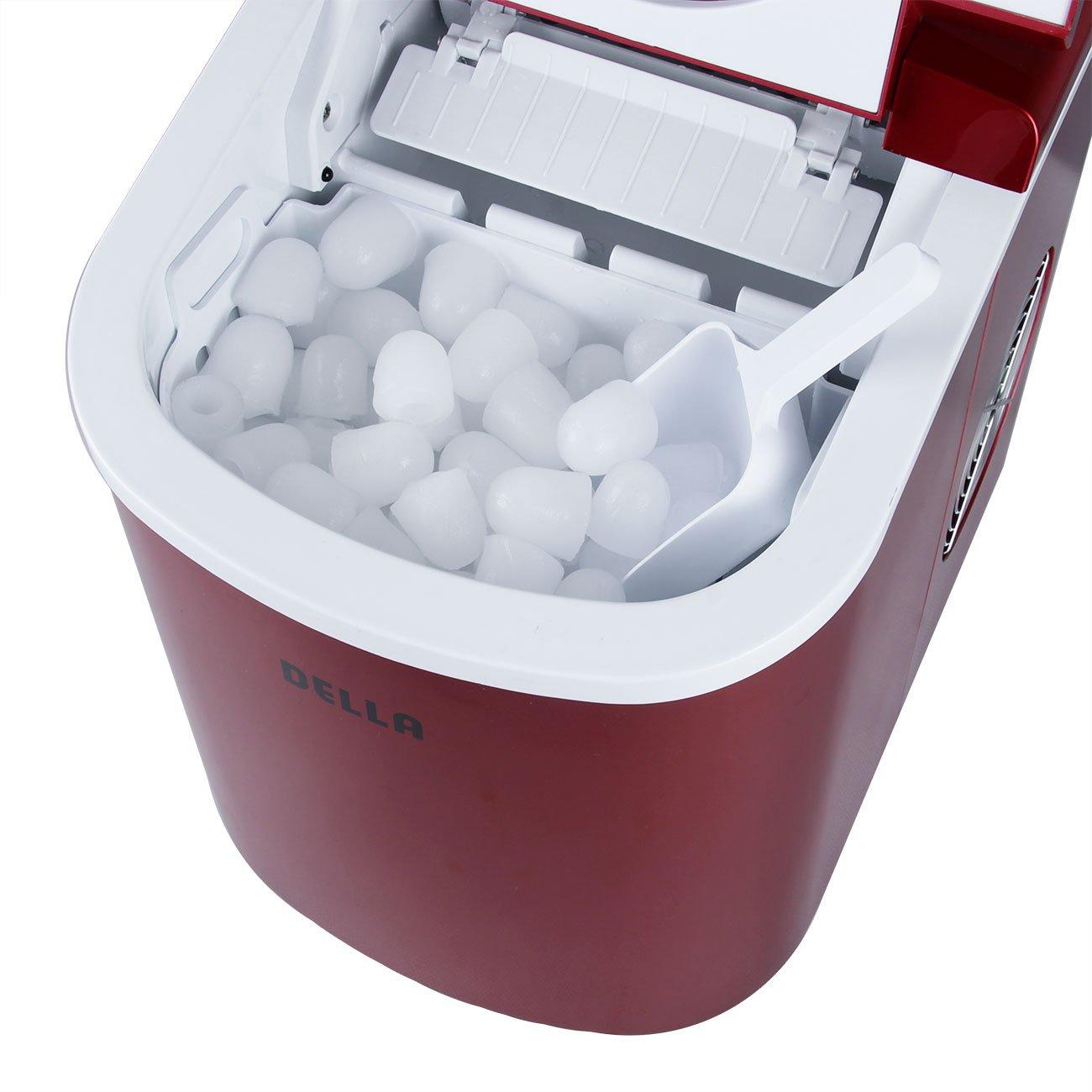 Della Portable Electric Ice Maker Machine Producing 26 Lbs. Of Ice Per Day- Red by DELLA (Image #4)