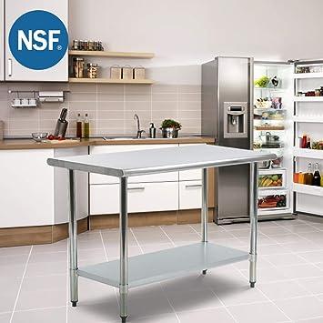 FDW Mesa de Trabajo de Acero Inoxidable para Restaurante de Cocina ...