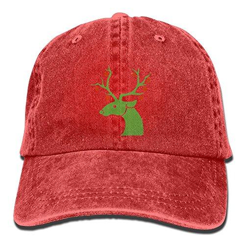 GqutiyulU Christmas Reindeer Adult Cowboy Hat Red ()