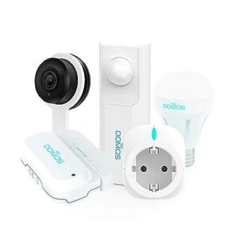 DOMOS Kit Completo de Seguridad para el hogar Inteligente Incluye Sensor de Apertura Enchufe Inteligente Sensor de Movimiento Cámara IP y Bombilla Inteligente RGB App Gratuita Domos 100% WiFi: Amazon.es: Industria, empresas