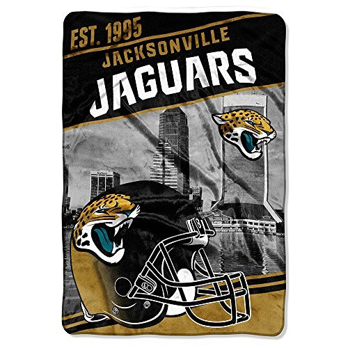 (Northwest 076 Stagger Micro Oversize NFL Bed Blanket Jaguars - Multi-Colored (Twin) )