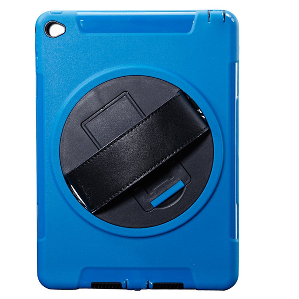 Hayder iPad Air 2 Case, Smart-Shell Kickstand Shockproof Protective Case Cover for with Built-in Screen Protector (Navy Blue)