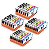ONLYU Ink Cartridge, PGI-250XL CLI-251XL High Yield Compatible For Canon Pixma MX922 MG7520 MG5420 MG5520 MG6620 24-Pack(4Large Black 4Small Black 4Cyan 4Magenta 4Yellow 4Gray)