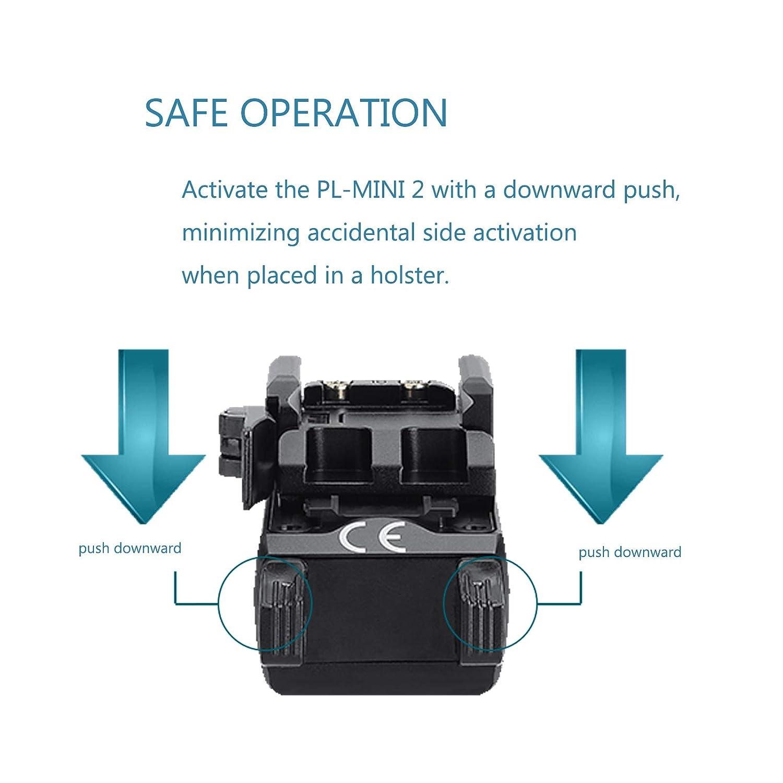 Olight PL-Mini 2 Valkyrie Light 600 l/úmenes con Ruyu Battery Case 100 metros Cree XP-L HD CW Compacto Magn/ético USB Recargable Herramienta de carril ajustable linterna de luz 3.70V