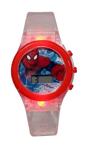 Reloj niño digitale Spiderman Marvel Comics - Luz LED de: Amazon.es: Relojes