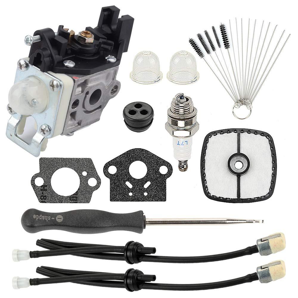 Hayskill SRM-225 Carburetor w Gasket Air Filter Fuel Line Kit for RB-K93 Echo SRM-225i SRM-225U SRM-225SB GT-225 GT-225i GT-225L Carb Trimmer A021001690 A021001691 A021001692 by Hayskill