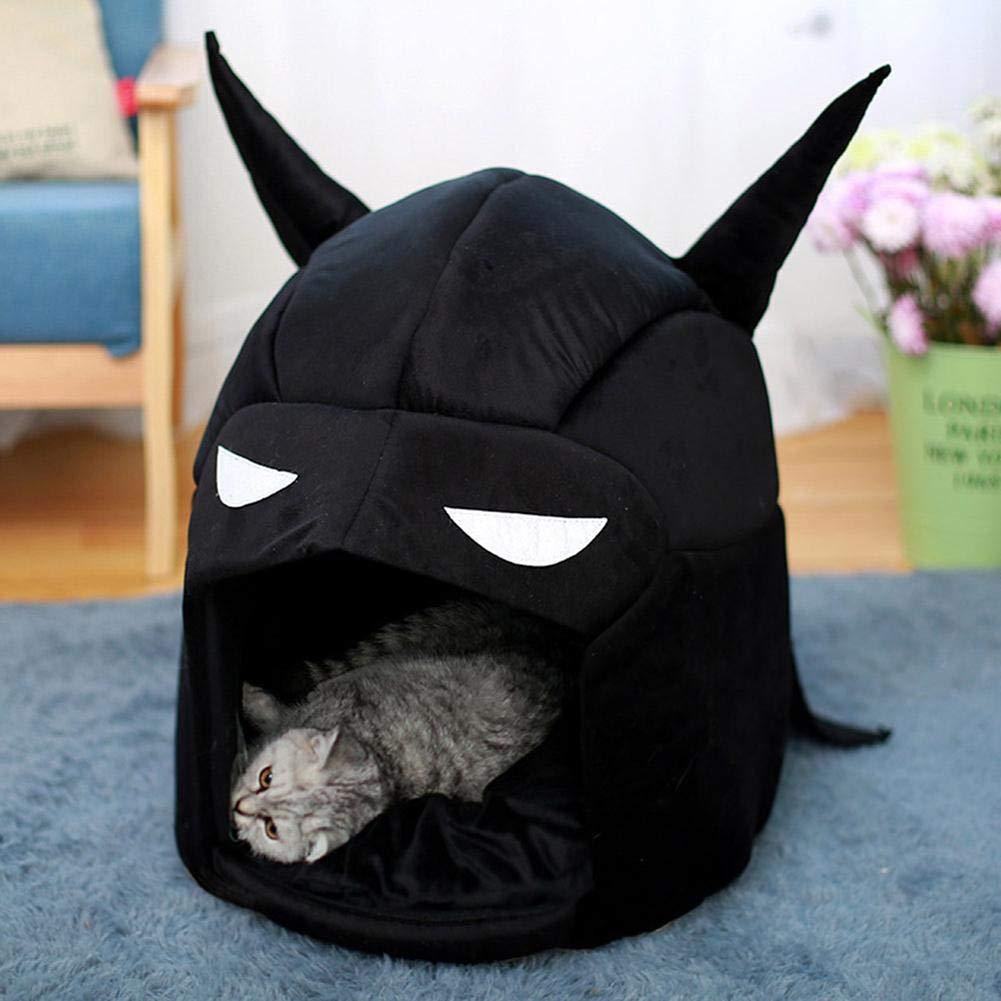 Biback Batman - Cama para Cueva de Gato con cojín extraíble ...