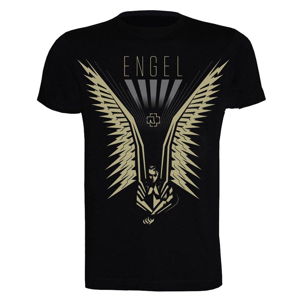 Rammstein Herren T-Shirt Weisse Balken Offizielles Band Merchandise Fan Shirt schwarz mit einfarbigem Front und Back Schaumdruck