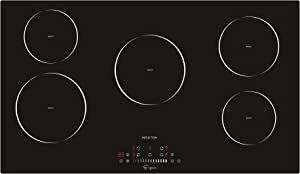Empava 36 Inch Electric Induction Cooktop Smooth Surface with 5 Burners 240V, 36 Inch, Black