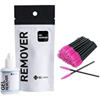 Blink Gel Remover for Individual Eyelash Extensions Glue/Adhesive Removal with 50 Pink Mascara Brushes - BL Lash