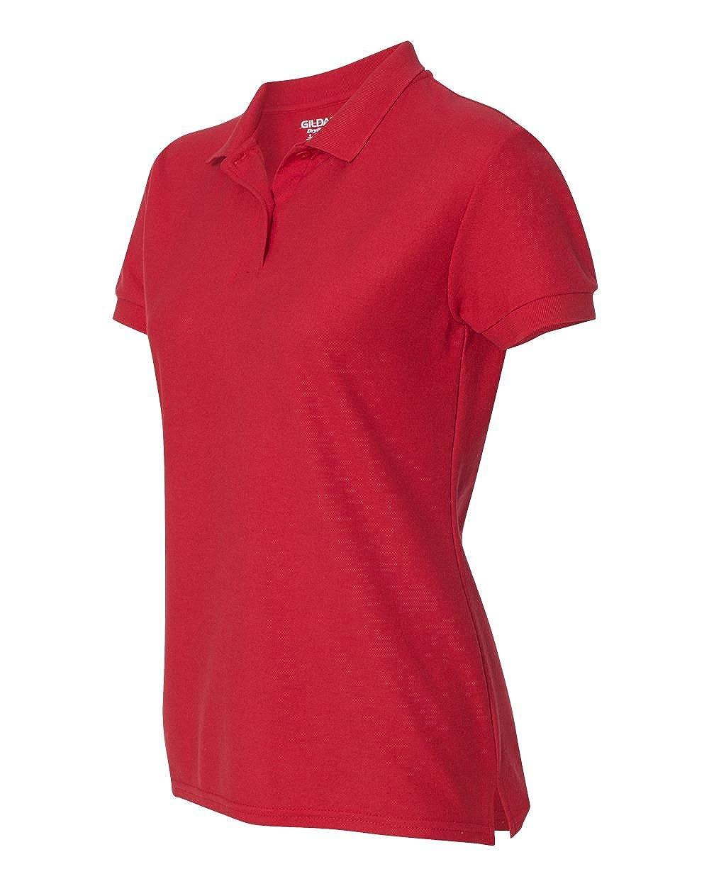 Gildan - Ladies DryBlend Double Pique Polo Shirt - 72800L-Red-XL ...