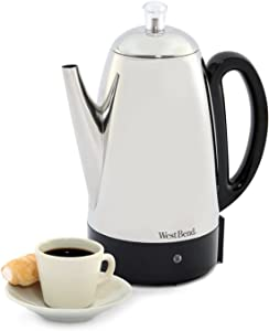 Stainless-steel 12-cup Electric Percolator