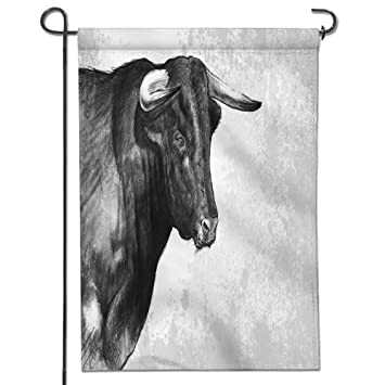 d53945190d65f Amazon.com : Jiahonghome Home Sweet Home Garden Flag Bull tattoo  illustration over rusty texture Spring Summer Yard Outdoor Decorative-12