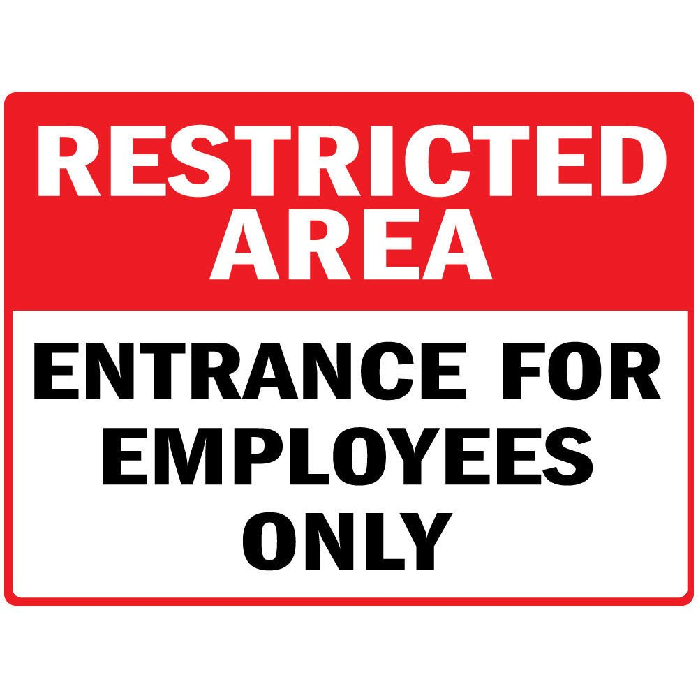 Amazon com restricted area entrance for employees only osha label decal sticker sticks to any surface 10x7 office products