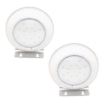 Xcellent Global Luz de 16 LEDs Alimentación Solar Inalámbrica, Sensor de Movimiento por Radar de