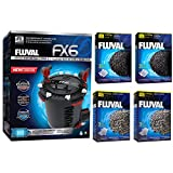 Fluval FX6 A219 Filter w/ Zeo-Carb, Carbon & Ammonia Remover 6mo
