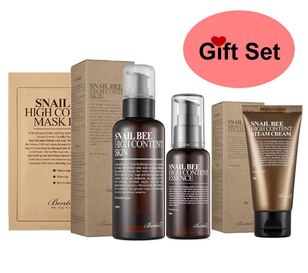 Amazon.com  Benton Skin Care Gift Set  Best Motheru0027s Day Gifts in Gift Box Comes with Essence + Toner + Cream and Free Gifts.  sc 1 st  Amazon.com & Amazon.com : Benton Skin Care Gift Set : Best Motheru0027s Day Gifts in ...