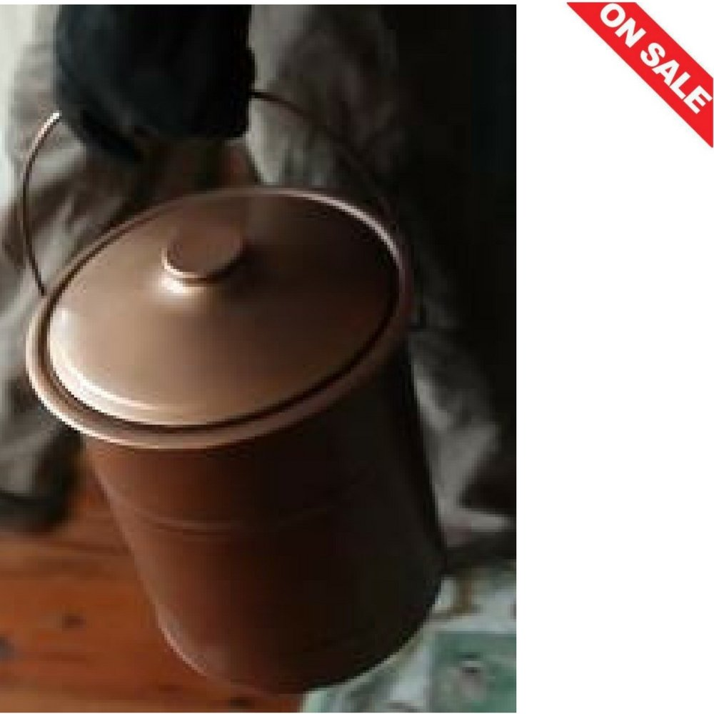 Ash Bucket With Lid Charcoal Ash Bucket Ashes Small Metal