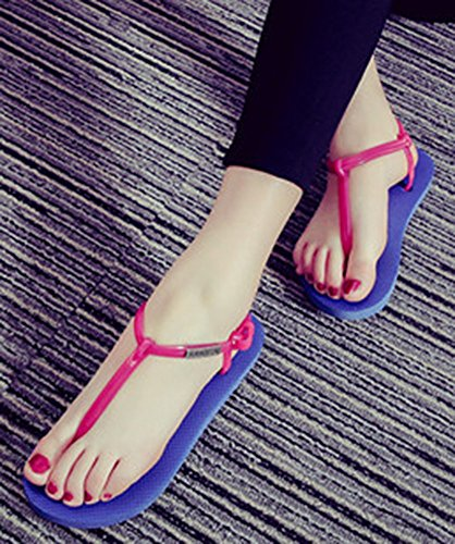 Ciabatte Infradito T-strap Perizoma Da Donna Idifu Open Toe Sandali Da Spiaggia Yoga Blu
