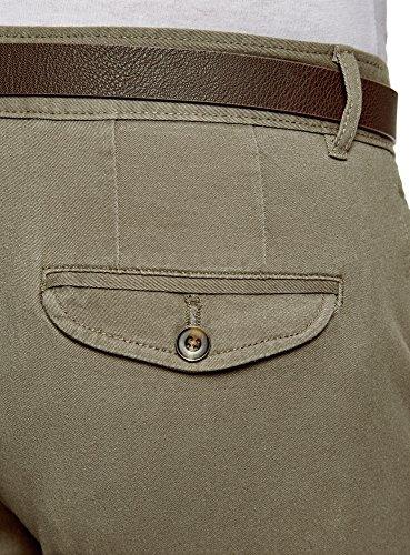 6600n Uomo Cotone In Verde Chino Oodji Ultra Pantaloni 4gqw0PFS