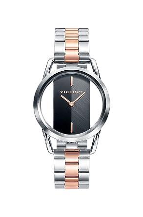 Viceroy Reloj Analógico para Mujer de Cuarzo con Correa en Acero Inoxidable 42336-57: Amazon.es: Relojes