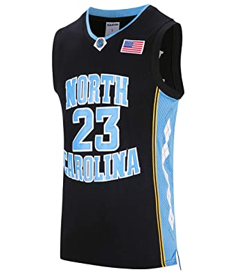 a3a2917f281e RAAVIN  23 North Carolina Mens Basketball Jersey Retro Jersey Black S-3XL  (Black