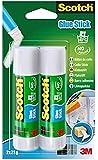 Scotch 6242C - Barra adhesiva de 21 g, transparente, pack de 2