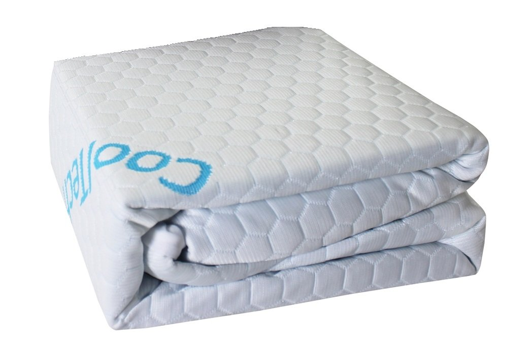 Cooling Mattress Protector (Queen), Cool to The Touch, 100% Waterproof, Hypoallergenic, Fitted Sheet Style, Suitable for All Mattress Types