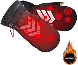 Yunhigh Rechargeable Heated Gloves Night Reflective Back Temperature Adjustable Lithium Battery Powered Electric Waterproof Insulated Touch Screen Motorcycle Electrocar Heating Gloves Warmer forSale