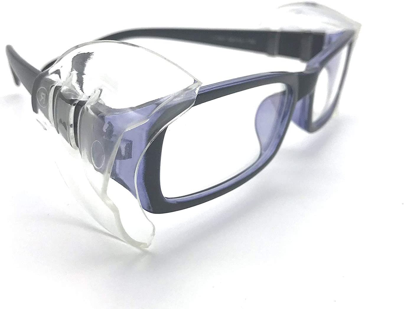 CHoppyWAVE 1 Pair Safety Eye Glasses Side for Safety Glasses Fits Small to Medium Eyeglasses Flexible Clear Universal Flexible Goggles Protector
