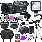 Canon VIXIA HF G40 Full HD Camcorder + 64GB SanDisk Memory Card + 60 in. Tripod + Accessory Bundle