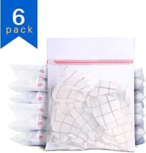 Umikk Mesh Laundry Bags, 6 Packs Mesh Wash Bags, 20 x 16 Inches, Travel Laundry Bag