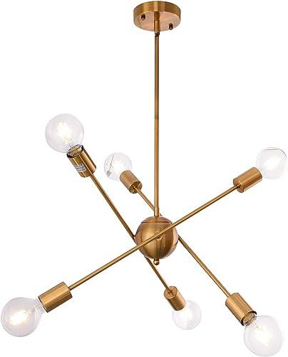 Sputnik Chandeliers 6 Lights Vintage Industrial Ceiling Pendant Light Fixture
