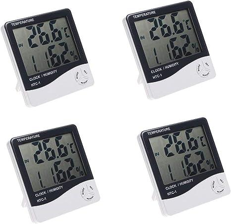 Digital Innen Außen Temperatur Thermometer Hygrometer Humidity Messgerät HTC-1