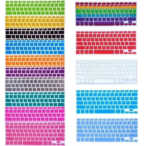 "Mavis's Diary Bundle of 15 Semi Transparent Colorful Keyboard Silicone Cover Skin Protector for Macbook 13"" Unibody / Macbook Pro 13"" 15"" 17"" / Macbook Pro 15 with Retina Display** / Mac Wireless Keyboard"