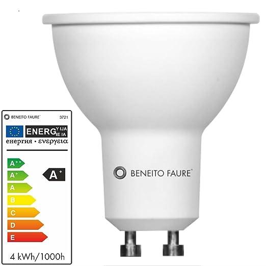 Beneito GU10 Bombilla LED 3,5 W, 60 grados 850 Luz de día Blanco