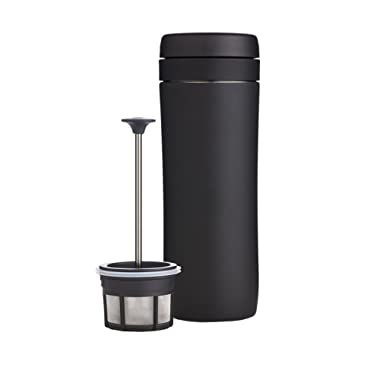 Espro Travel Coffee Press, Stainless Steel, 12 oz (Matte Black)