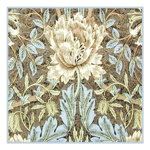 Inspired William Morris (Wild Tulips in Browns by William Morris Counted Cross Stitch Pa...)